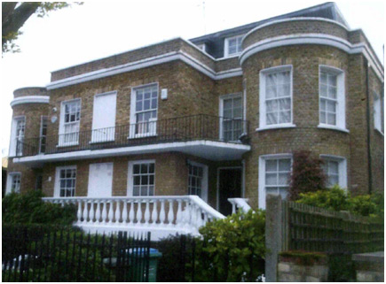 External view of property in Barnes