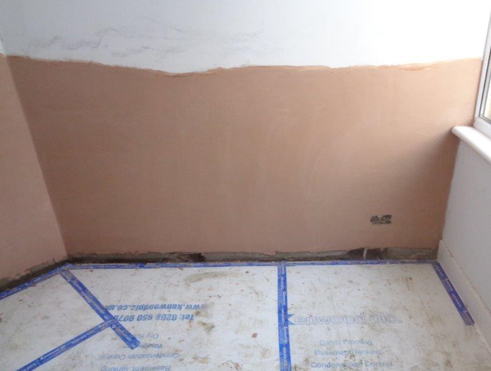 Final skim applied to walls