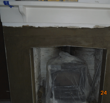 Walls rendered ready for skim finish