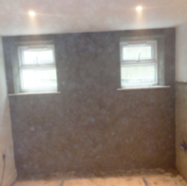 Walls treated and replastered