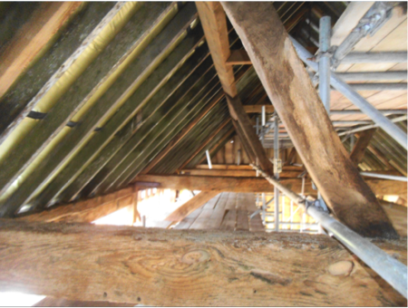Barn woodworm infestation
