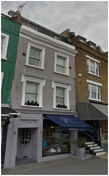 Rising dampness in Furnishings Shop in Fulham
