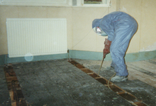 Kenwood Insecticide Applied to Flooring