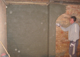 Basement tanking, removing wall and coating