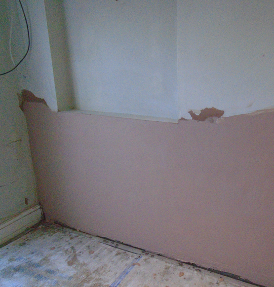 Walls treated to remove woodworms