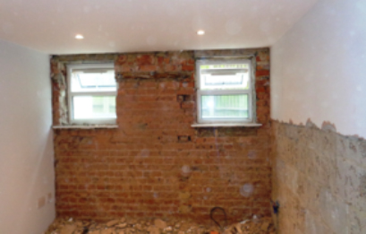 Wall plaster removal