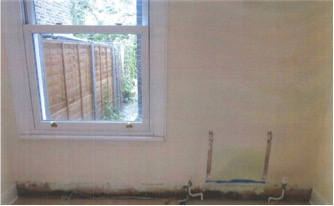 Rising damp on wall
