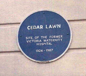 Cedar Lawn - Blue badge from front of property