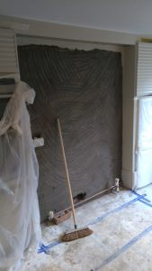 Wall RePlastering Final Stages