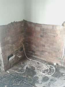 Internal damp proof course injected